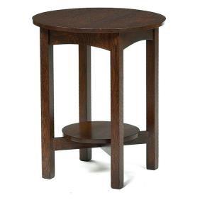 JM Young Lamp Table, Circular Top