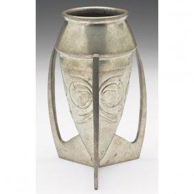 Liberty & Co. Vase, Three-handled, Tudric Pewter,