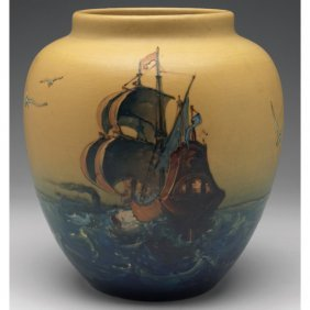 Weller Hudson Pictorial Vase, Mae Timberlake