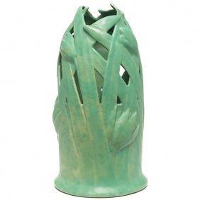 Rare Teco Vase, Tulip Design