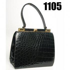 Vintage Bellestone Handbag, Faux Alligator Skin
