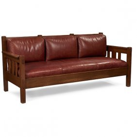 """Stickley Brothers Settle, #3715 79""""w X 33""""d X 35""""h"""