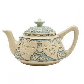 """Rozane Ware Della Robbia Teapot 9""""w X 5""""h"""
