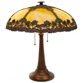 """Bradley And Hubbard Table Lamp 18""""dia X 20""""h"""