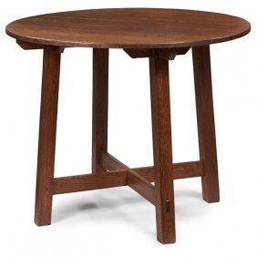 """Limbert Lamp Table, #1138 36""""dia X 29""""h"""