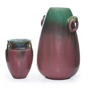 "Fulper Pottery Co. Vase Larger: 8""w X 12.5""h"
