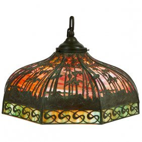 "The Handel Lamp Company Sunset Hanging Shade 24""dia X"