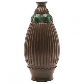 """French Art Deco Vase 5""""dia X 10.5""""h"""