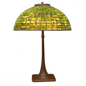 Tiffany Studios Table Lamp, Base #436, Shade #1421-19