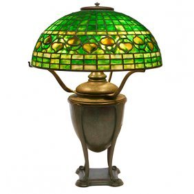 Tiffany Studios Leaf And Vine Table Lamp, Base #4476