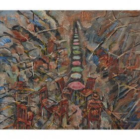 Seymour Rosofsky, (american, 1924-1981), Via Veneto,