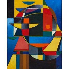 Werner Drewes, (american, 1899-1985), Untitled, 1948,