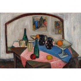Harry Shoulberg, (american, 1903-1995), Still Life, Oil