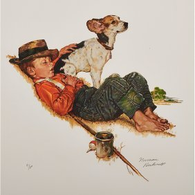 Norman Rockwell, (american, 1894-1978), Puppy Love
