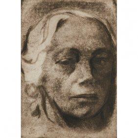 Kathe Kollwitz, (german, 1867-1945), Self Portrait,