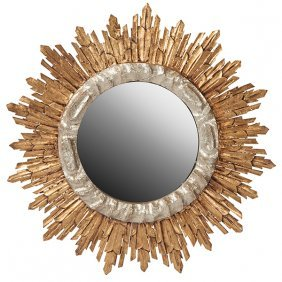 "French Starburst Wall Mirror 24""dia X 2.5""d"