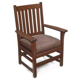 L & JG Stickley Armchair, #816
