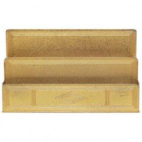 Tiffany Studios Letter Rack, Bronze