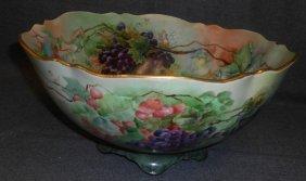 Vintage Limoges Porcelain Punch Bowl