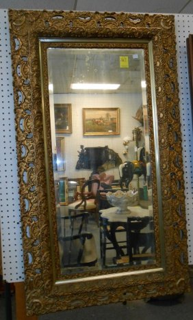 Ornate Antique Beveled Mirror