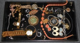 Misc Lot Of Vintage Costume Jewelry