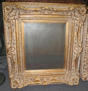 Ornate Louis Xvi Style Beveled Mirror