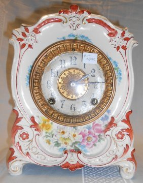 """Antique Royal Bonn """"la Tour"""" Ansonia Clock"""
