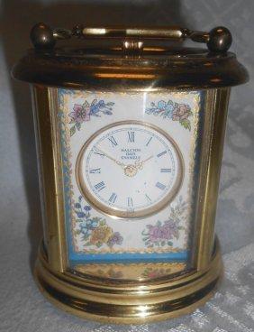 Halcyon Days Enamel Miniature Carriage Clock