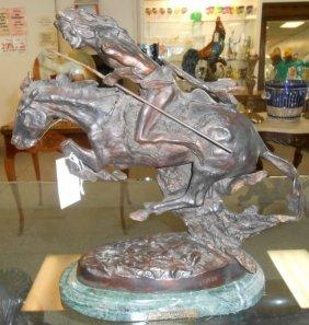 """Bronze Western Sculpture After Remington """"cheyenne"""""""