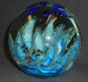 Huge Art Glass Aquarium Sculpture