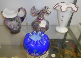 Lot Of 4 Misc Fenton Glass Pieces