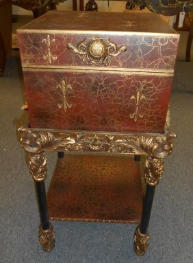 Decorative Trunk Style Side Table