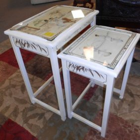Set Of 2 Chinese Stack Tables