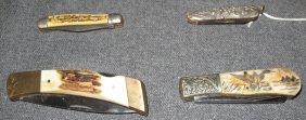 4 Vintage Pocket Knives