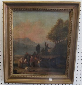 Antique Christian Oil Painting
