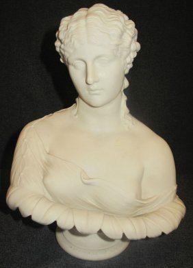 Antique Victorian Bust Of Clytie After C. Delpech