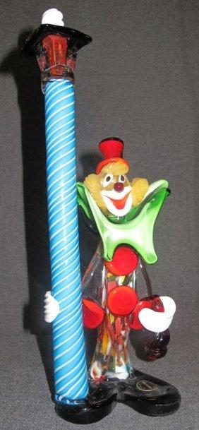 Vintage Murano Art Glass Clown