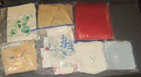 10 Misc Vintage Table Cloths