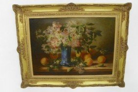 Marthe Solange Lilac Still Life Oil Painting