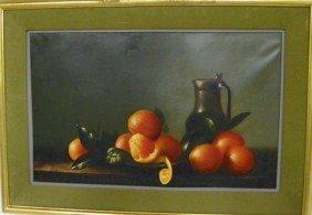 M. W. Huggins Still Life Oil Painting