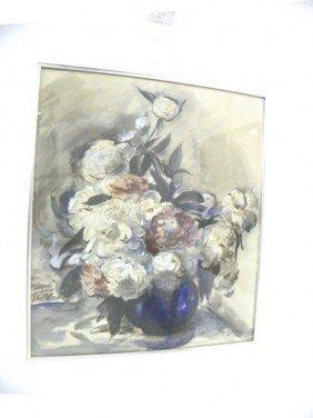 Ben Solowey Floral Still Life Watercolor