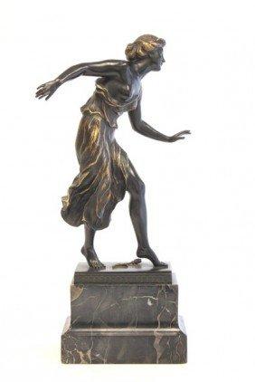 Georges Morin Female Dancer Bronze Sculpture