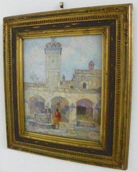 Glen Sheffer Village Scene Oil Painting