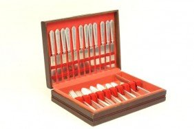 Sterling Silverware Set In Case
