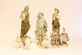 Group Lot Of 8 Various Figurines
