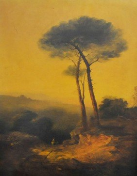 Antique Oil Painting Attributed To J.M.W. Turner