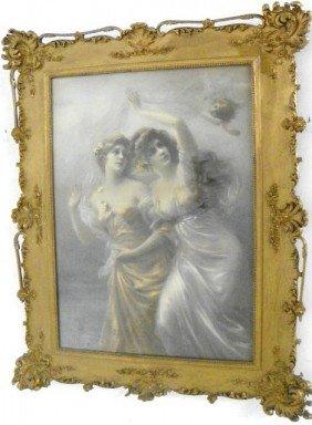 Gilt Framed Victorian Print Ca. 1900