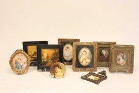 Group Of 8 Miniature Portraits