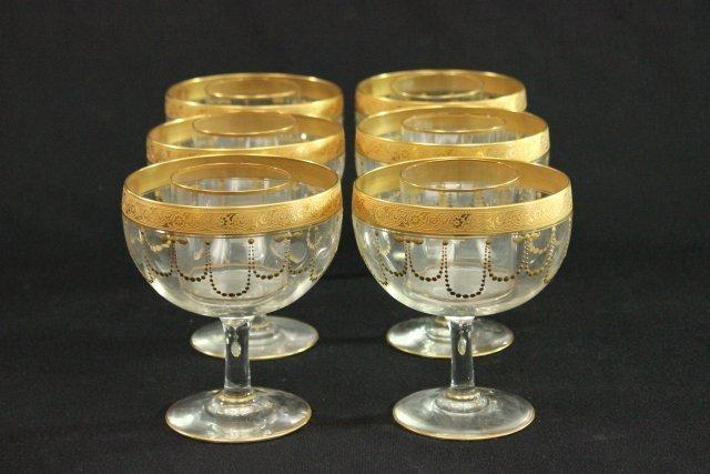 6 shrimp cocktail glasses with inserts lot 1000. Black Bedroom Furniture Sets. Home Design Ideas