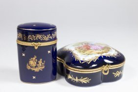 2 French Limoges Porcelain Boxes